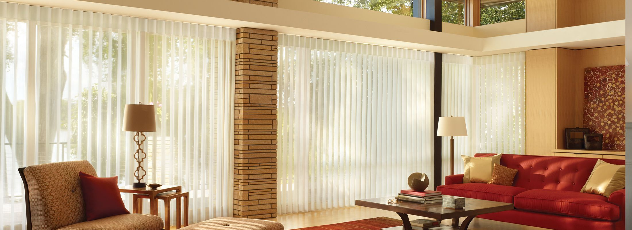Privacy Blinds In Stria Harmony Luminette Modern Window