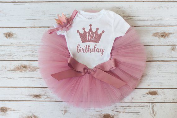 9049bfb7d Half birthday outfit girl 'Rosy' rose gold half birthday outfit girl rose  gold 6 month photo outfit