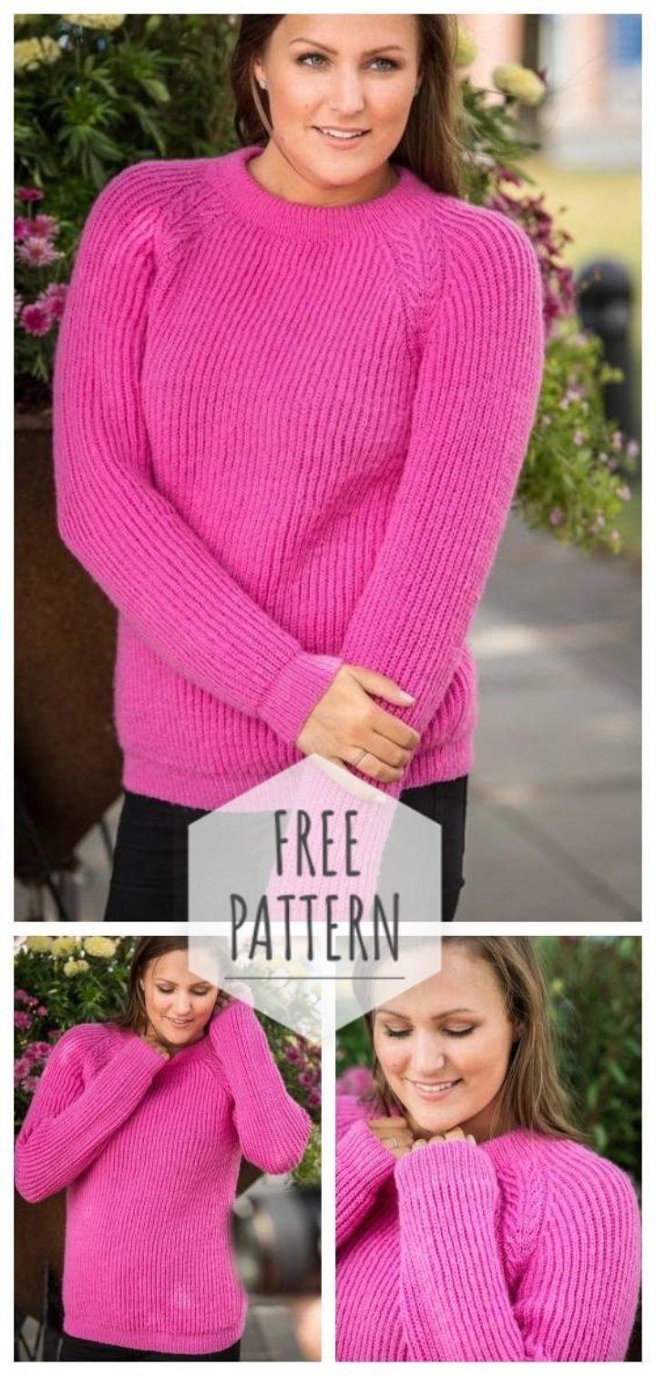 Mayflower Raglan Sweater Free Pattern | Raglan sleeve ...