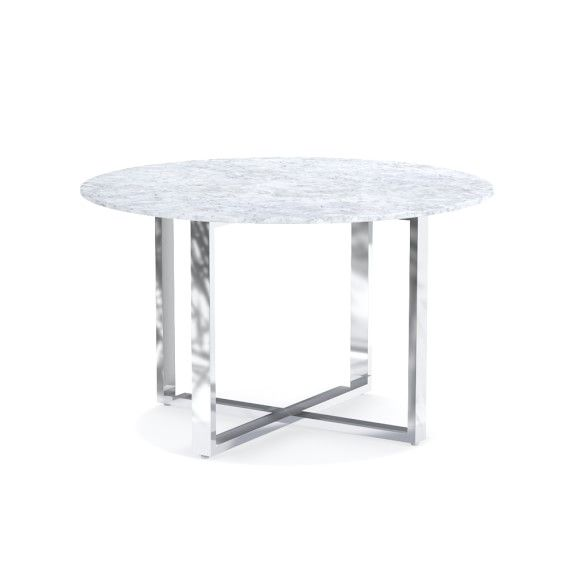 Mercer Round Dining Table With Carrera Marble Williamssonoma