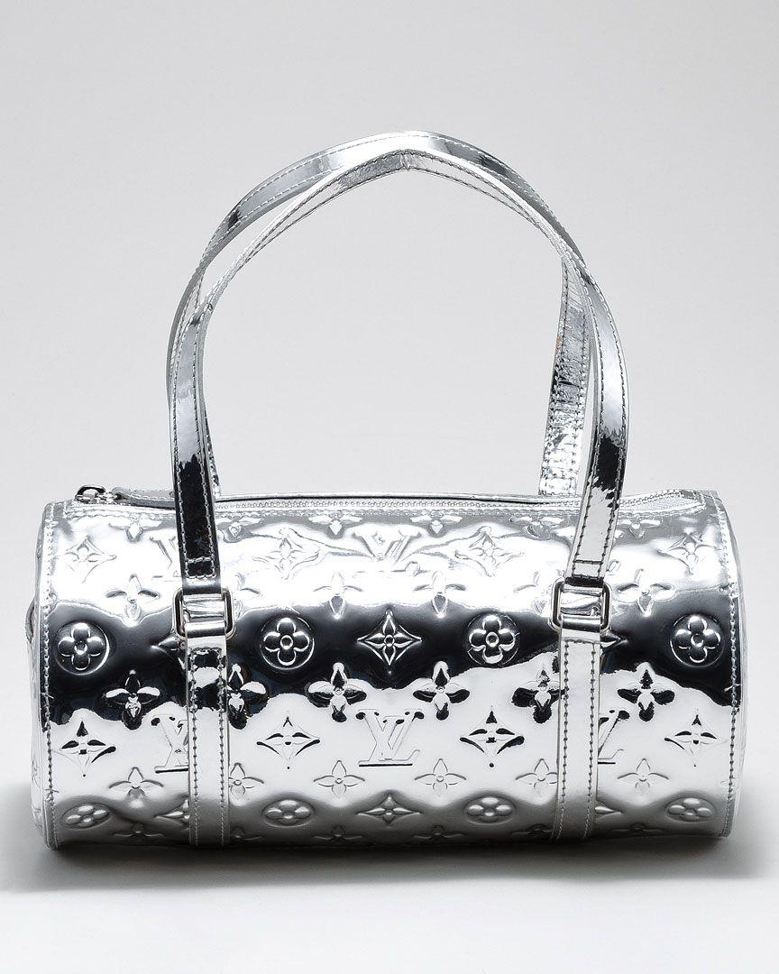 Louis Vuitton Silver Patent Monogram Miroir Papillion   Silver ... bcf7a489ad60