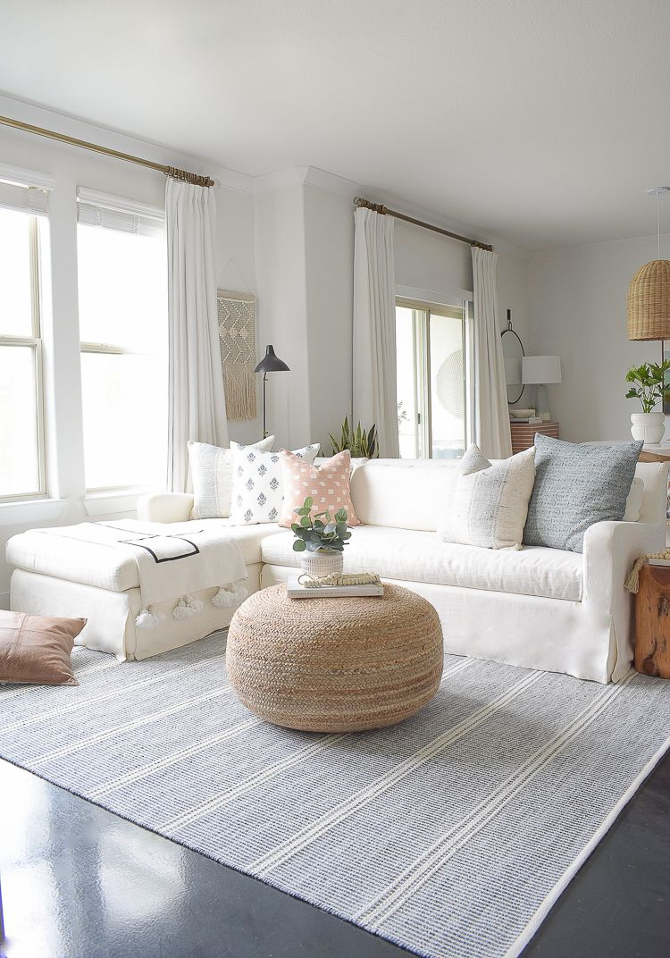 Light & Airy Spring Living Room Tour | ZDesign At Home