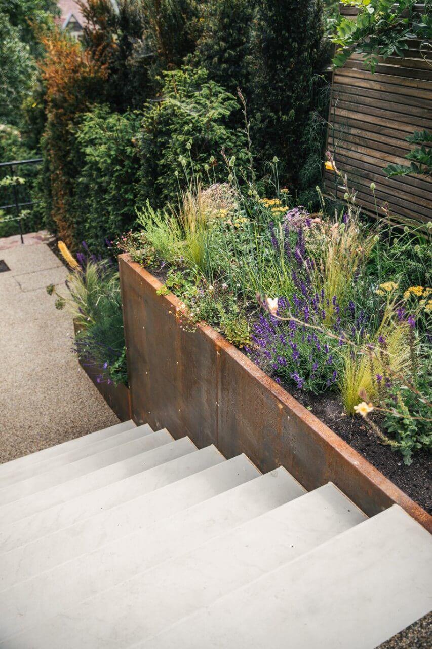 Modern Meets Traditional In Long Ashton Artisan Landscapes Bristol In 2020 Garden Landscape Design Small Garden Design Modern Landscaping