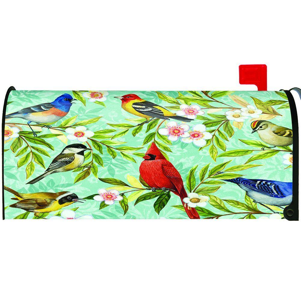 Bird Collage Mailbox Cover