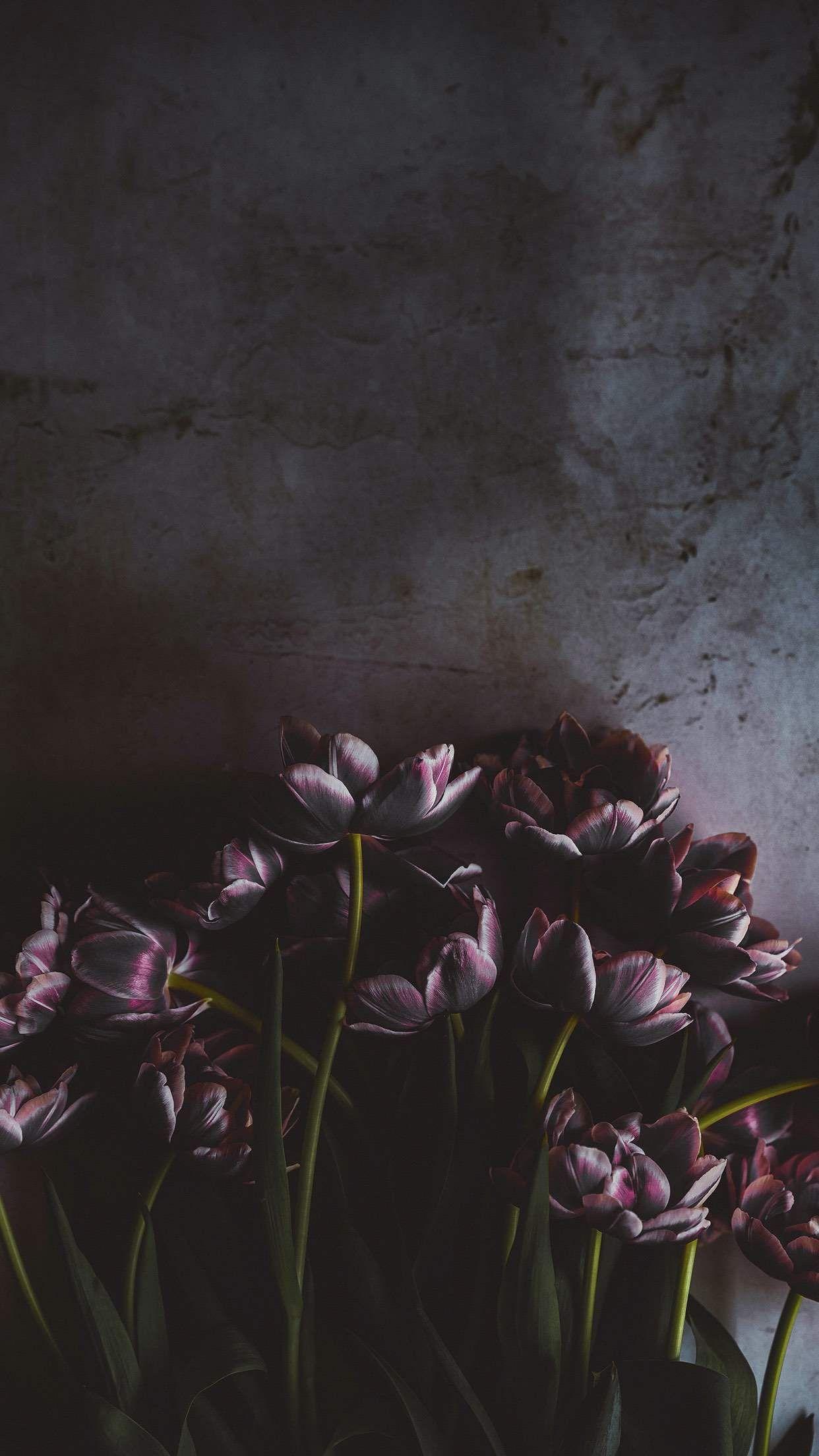 Phone Wallpaper Dark Flowers