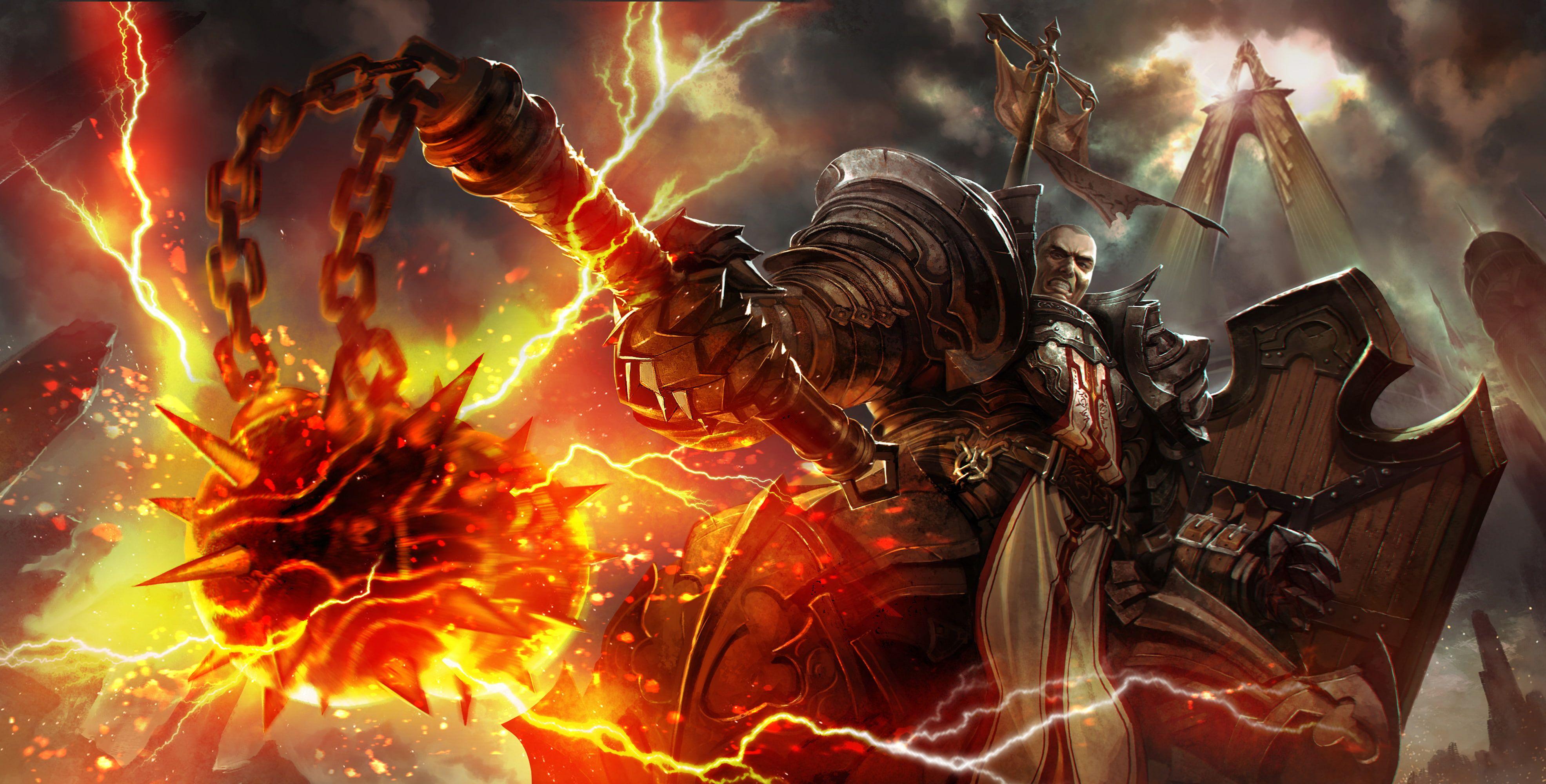 Fire Diablo 3 Crusader Reaper Of Souls Diablo 3 Reaper Of Souls Morgenstern 4k Wallpaper Hdwallpaper Des Paladin Art Deviant Art Fantasy Soul Wallpaper
