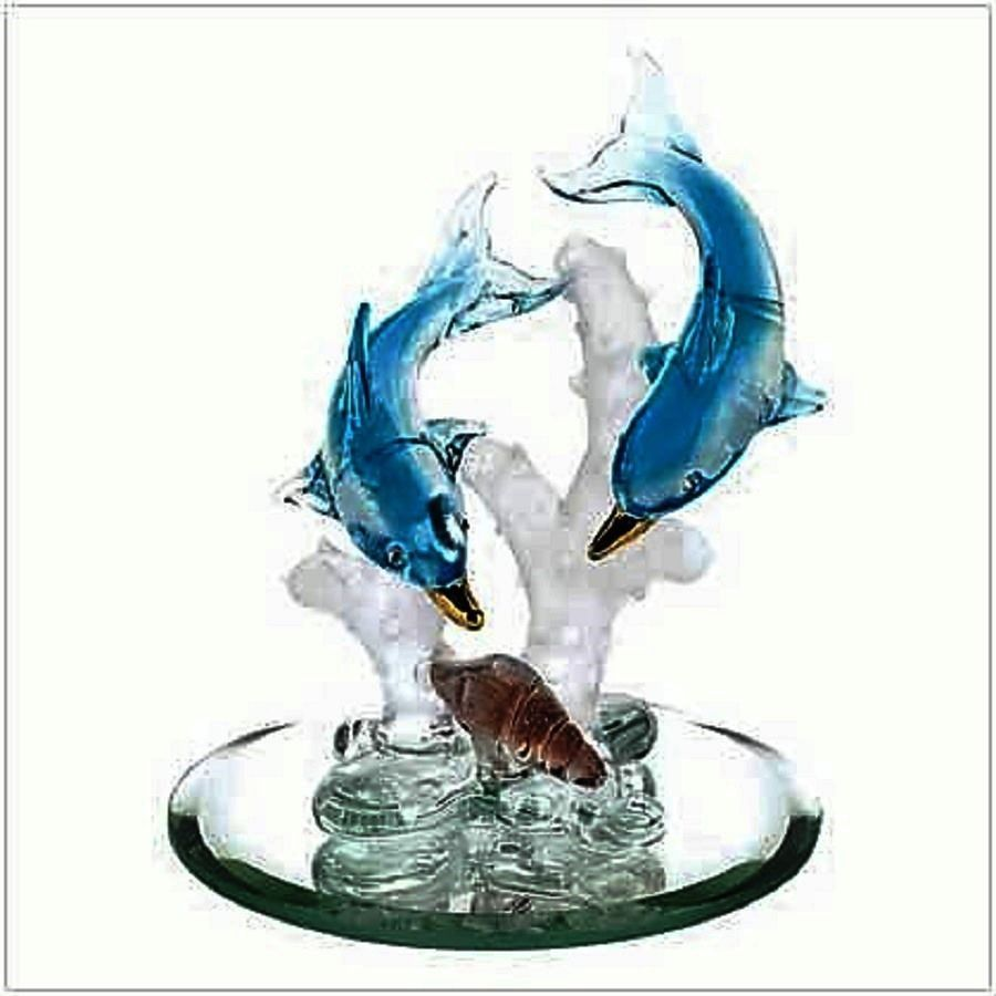 b4756b5d7c125 Spun Glass Dolphin | Ocean Voyage | Glass figurines, Dolphins, Glass