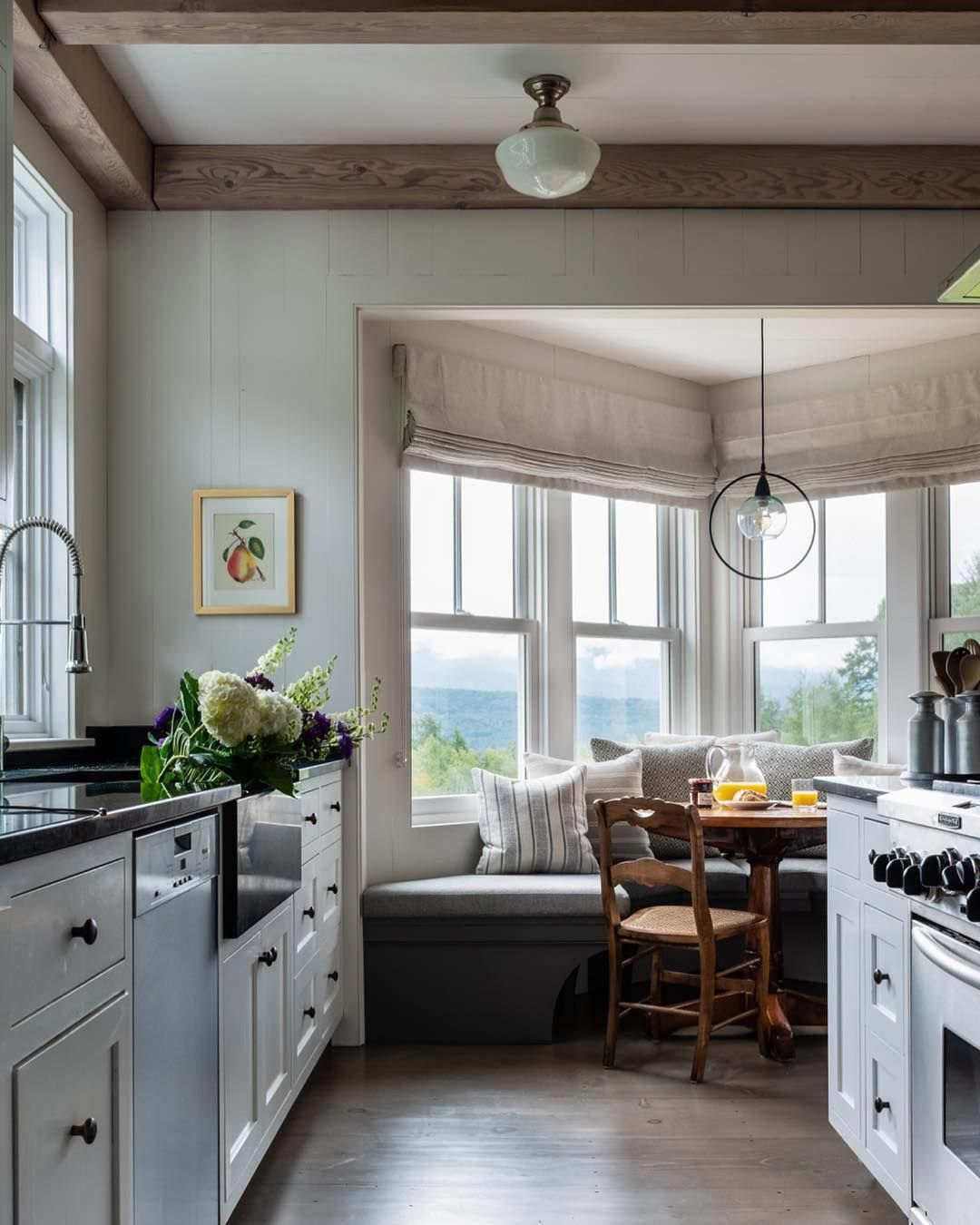 Modern Farmhouse kitchen with breakfast nook in the