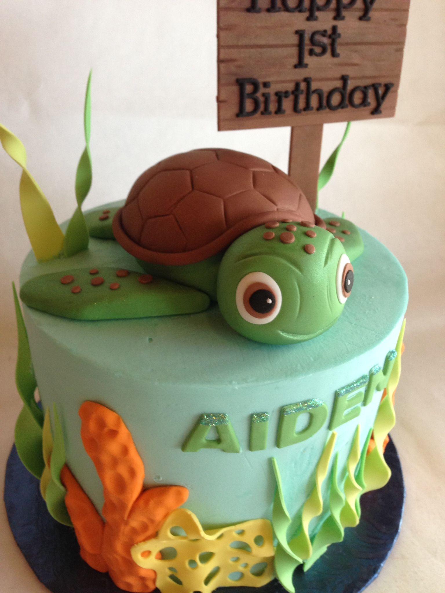 Birthday Cake 1st Birthday Kids Cake Sea Turtle Custom