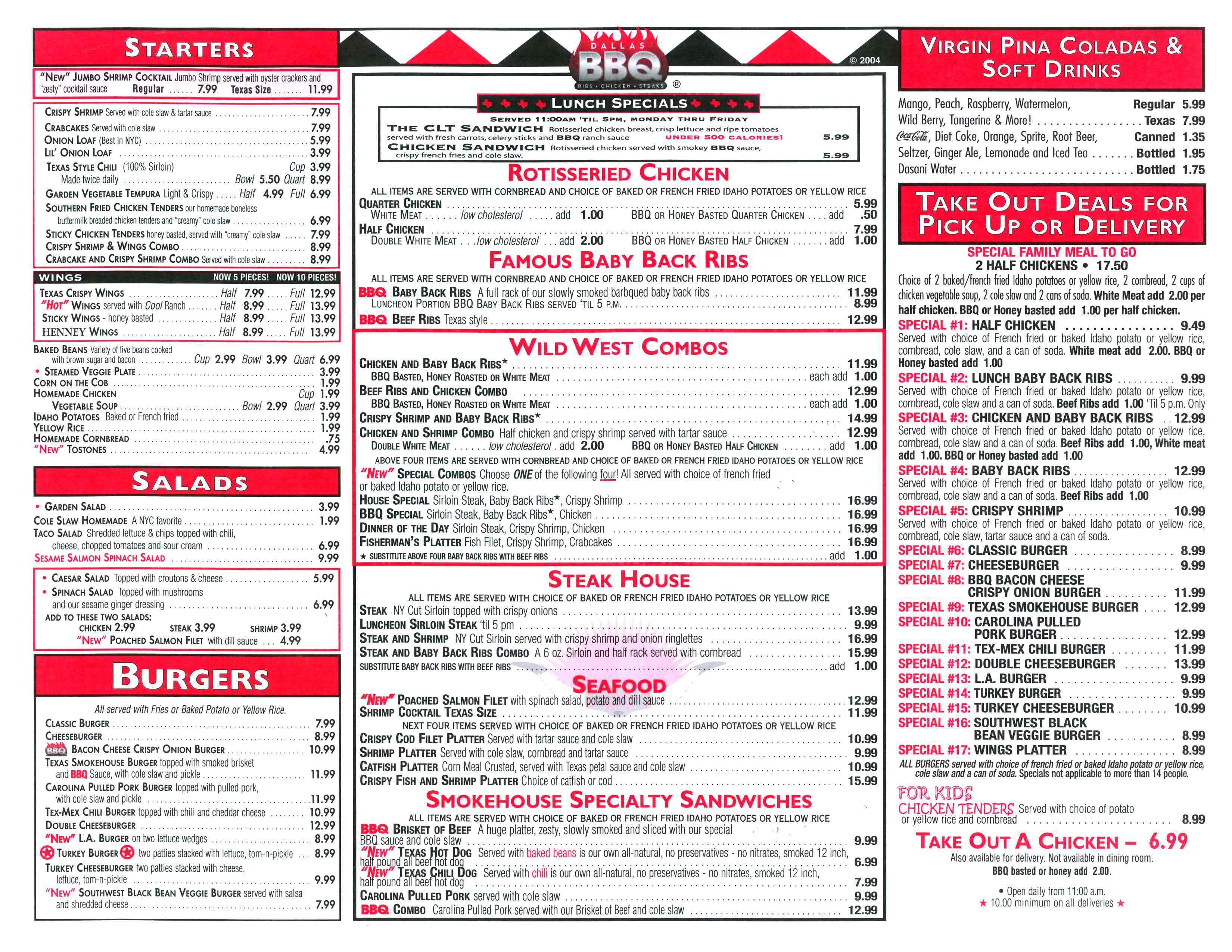 dallas bbq menu | Dallas BBQ | BBQ | Pinterest | Dallas, Menu and ...