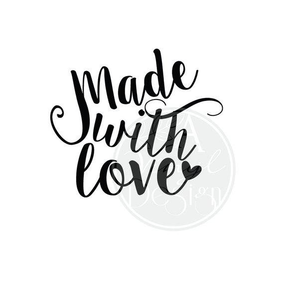 Made With Love Vinyl Decal Version 2