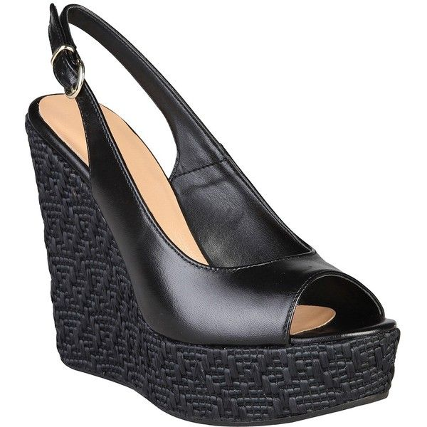 Made in Italia Vanna Leather Slingback Wedge itsqY