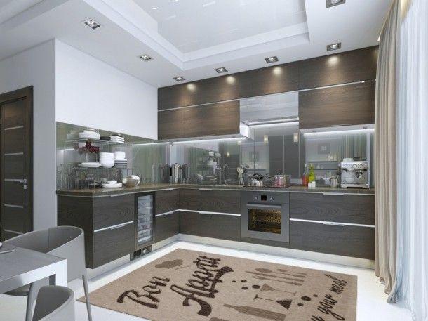 Küchen Teppich Kurzflor Astra Andria beige Küchenteppiche - teppiche für die küche