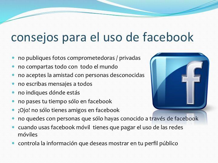 Consejos para el uso de Facebook