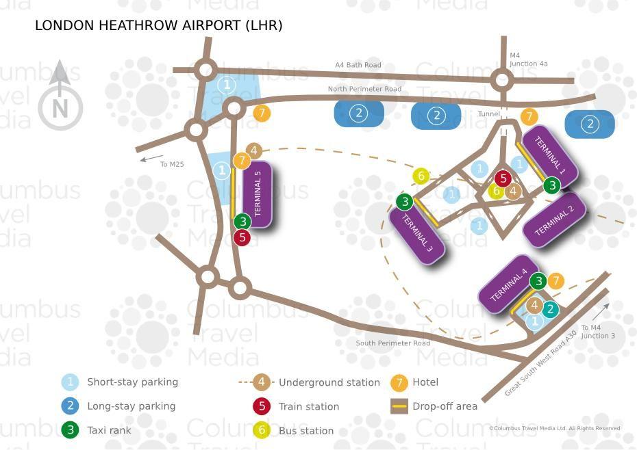 Map Of London Heathrow Airport Terminal Lhr Heathrow London Airports Heathrow Airport