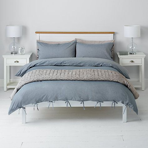 Buy John Lewis Chambray Ties Duvet Cover And Pillowcase Set Blue Online At Johnlewis Com Luxury Bedroom Furniture Duvet Luxury Bedding Sets