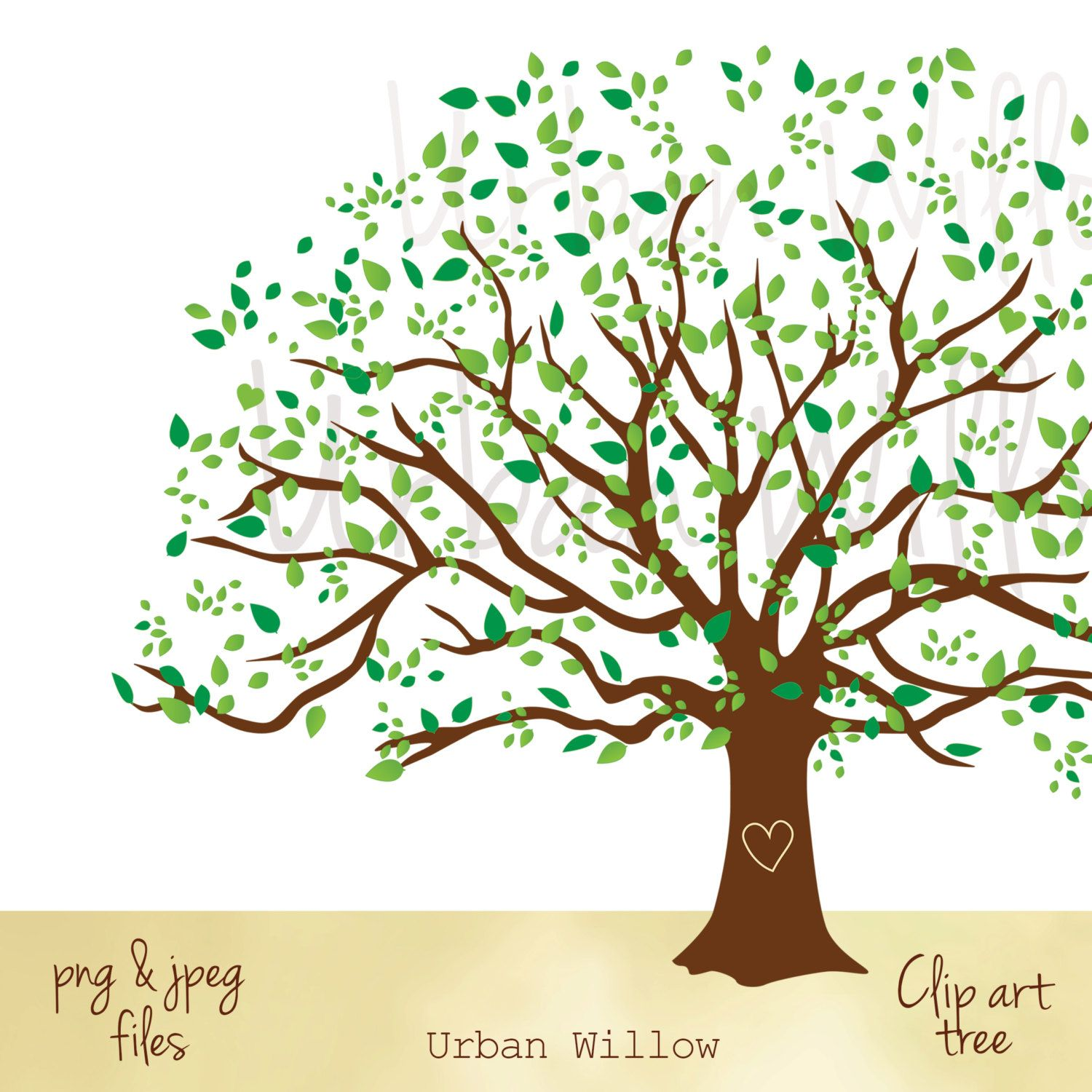tree graphic flame tree willow tree wedding tree clipart green trees  [ 1500 x 1500 Pixel ]