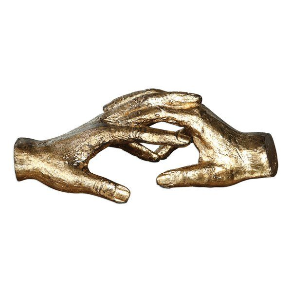 Hold My Hand Metal Sculpture is part of Metal Home Accessories Inspiration - A modern take on classic style, this eyecatching sculpture is sure to make a statement in any space  Showcasing a pair of folded hands elegantly finished with a glossy golden hue, it is the perfect accent to instantly elevate your contemporary aesthetic  Try setting it on a stack of vintaged novels on your study desk for a striking contrast, then build on the modern look by rolling out a white shag rug and dotting your walls with abstract art  Expecting overnight visitors  Place this sculpture on your guest suite nightstand along with a single white orchid to greet with style