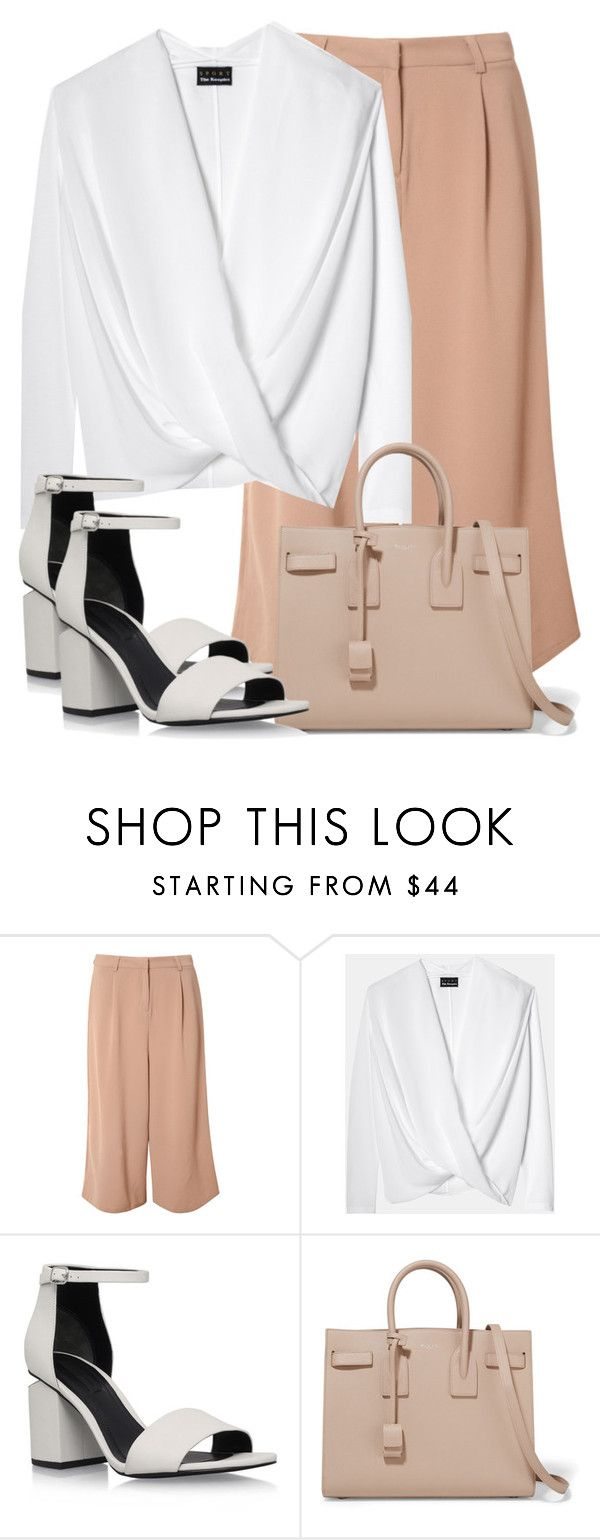"""""""Untitled #2722"""" by elenaday ❤ liked on Polyvore featuring Glamorous, Alexander Wang and Yves Saint Laurent"""
