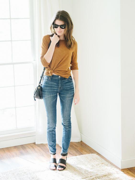 8 Maneiras de usar nozinho na cintura | Idéias de moda, Look