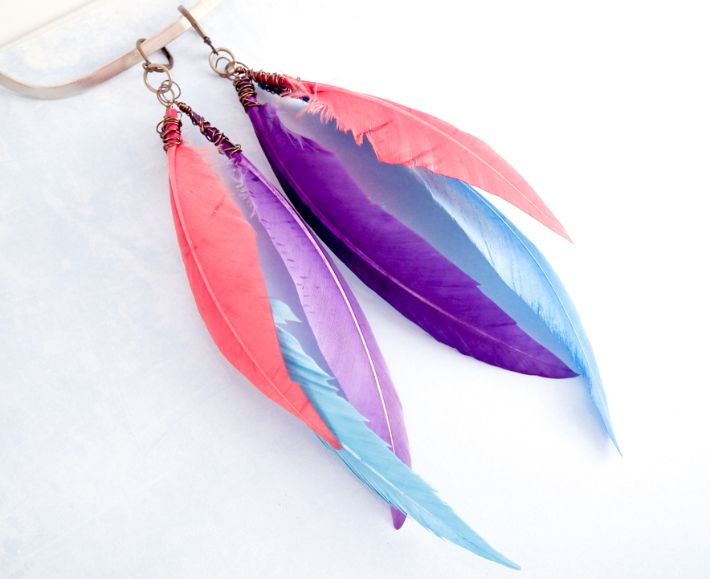 5 Steps To Super Stylish Diy Feather Earrings Feather Earrings