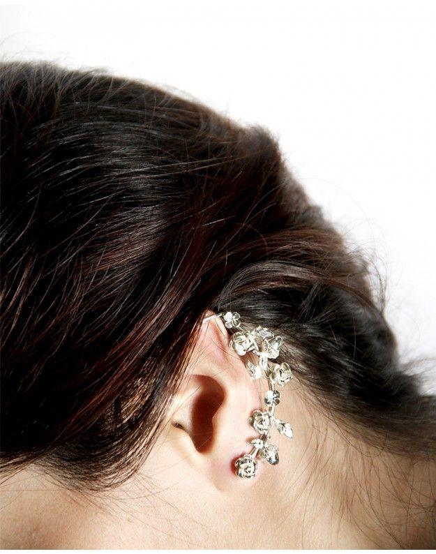 PEONIA EARRINGS by Sange de mi Sangre #wedding #bride #silver #Mexico #handmade #design #silver #sterling