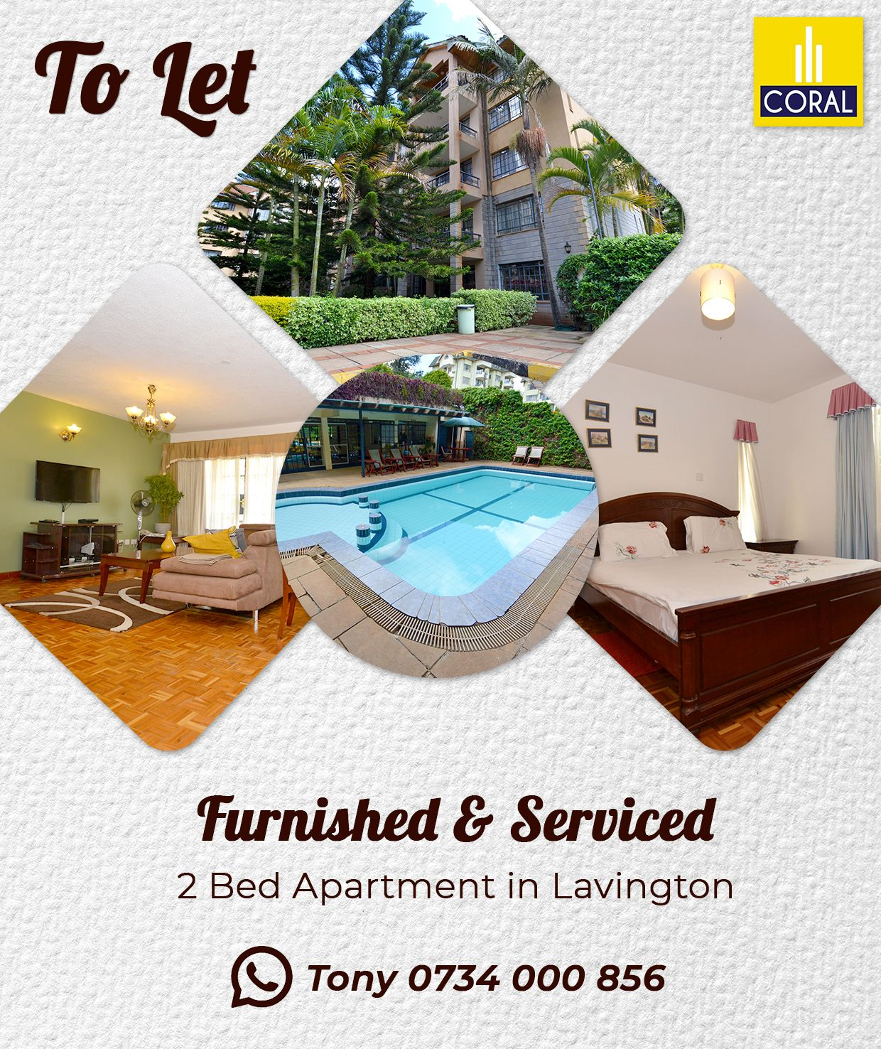 Furnished Serviced 2 Bed For Rent In Lavington Apartments For Rent Apartment 2 Bedroom Apartment