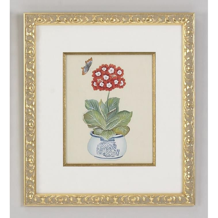 Red Auricula Painting Capitol Lighting In 2020 Traditional Framed Art Chelsea House Wall Painting