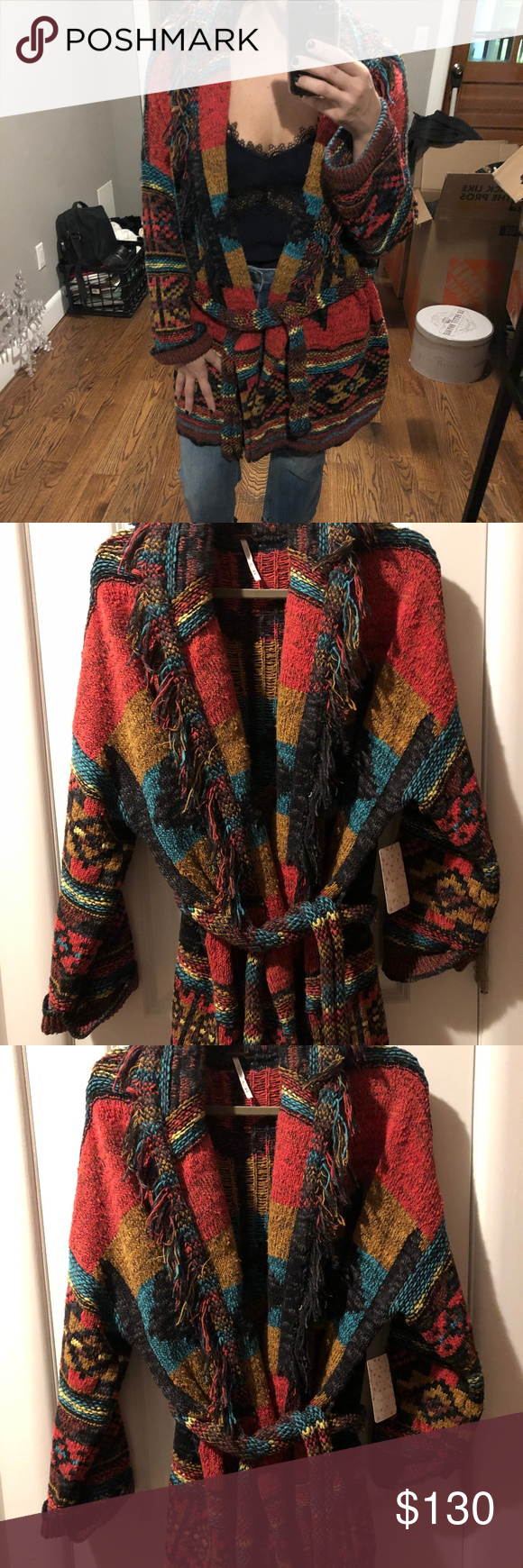 7181a460a LAST ONE! NWT Free People Wild West Sweater I will be removing and ...