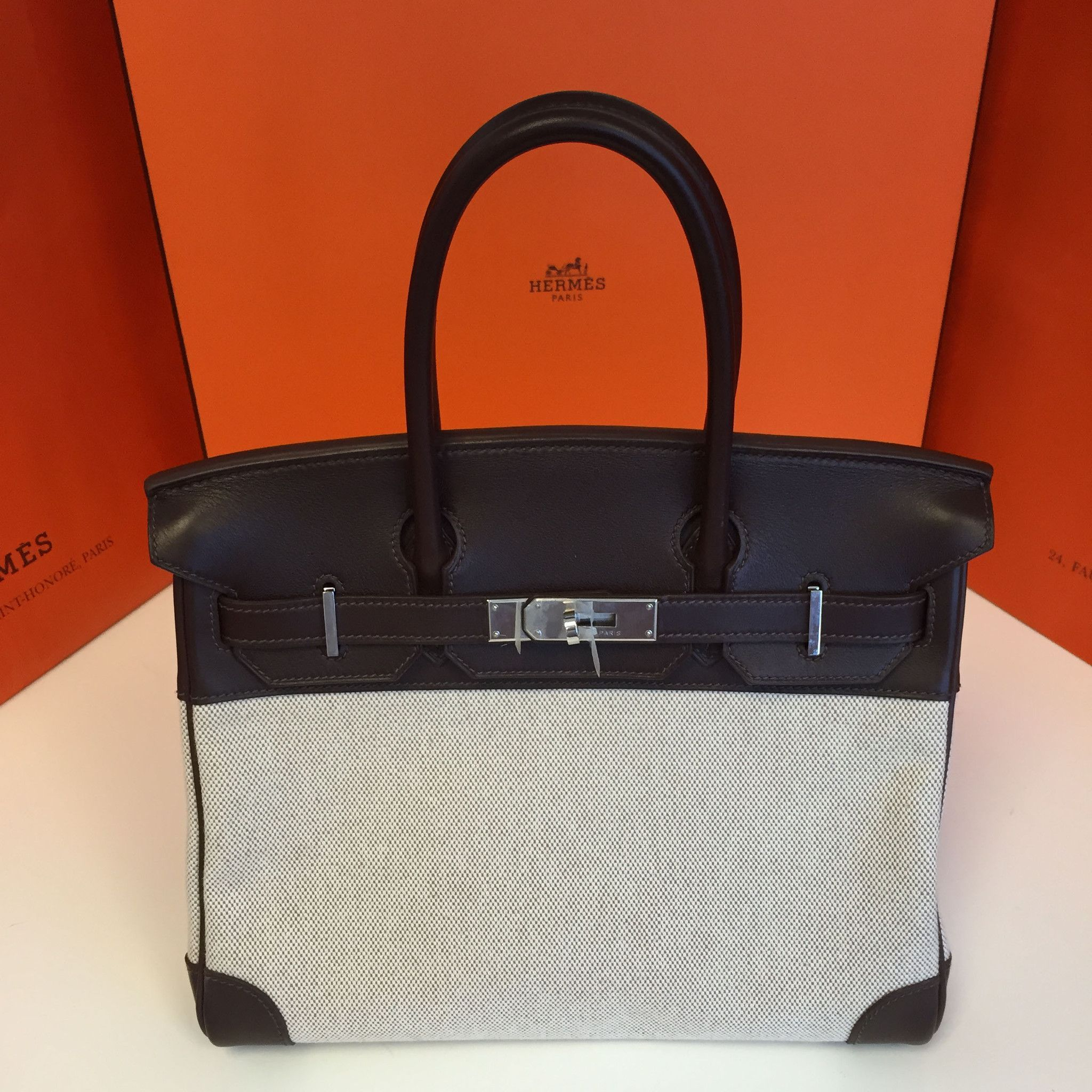 85e76ff68847 ... switzerland exquisite authentic pre owned hermès kelly bag. exterior  eggplant leather with fabric. please