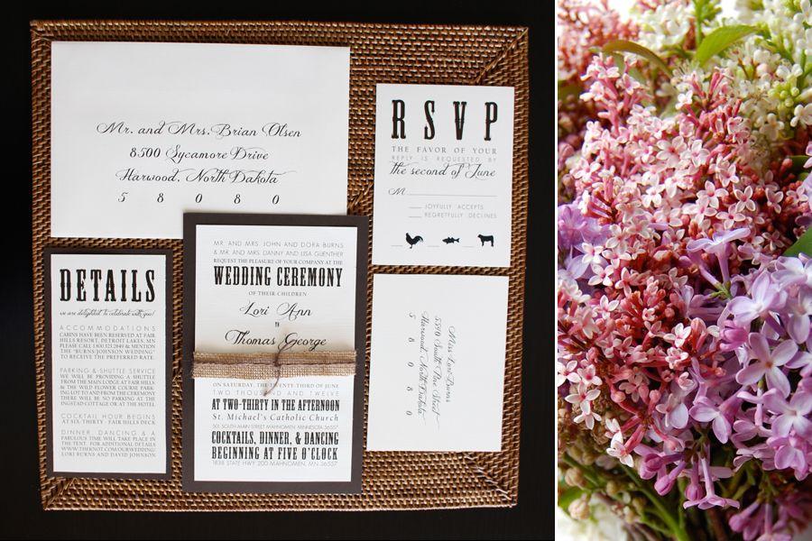 rustic elegance collection – fargo wedding invitations » Linds ...