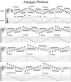 Sweeping Arpeggio Workout: Navigating Chord Changes – +