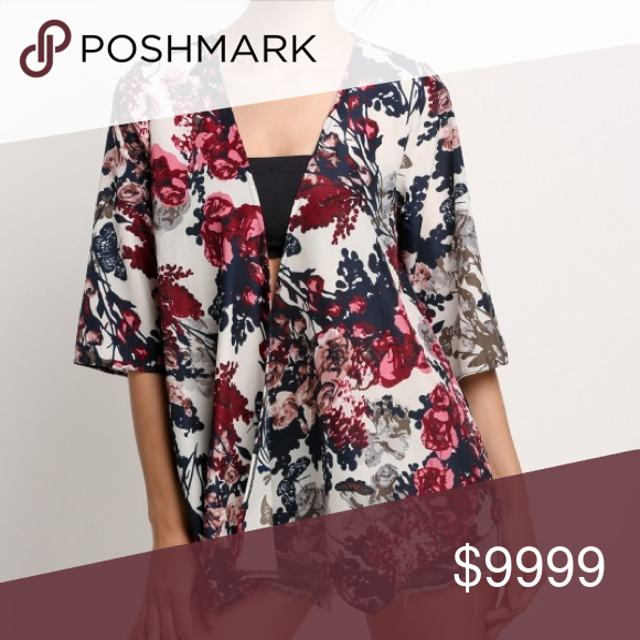 7a2b36a17 ... Polyester Style: Blouse ,Sleeve Style: Kimono Sleeve Pattern: Floral  Color: as the picture shows US M(8-10) L (12) S (4-6) 🛍BUNDLE & SAVE 15%🛍  ...