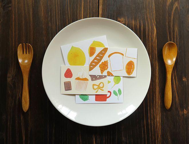 ミニカード食べ物シリーズ1