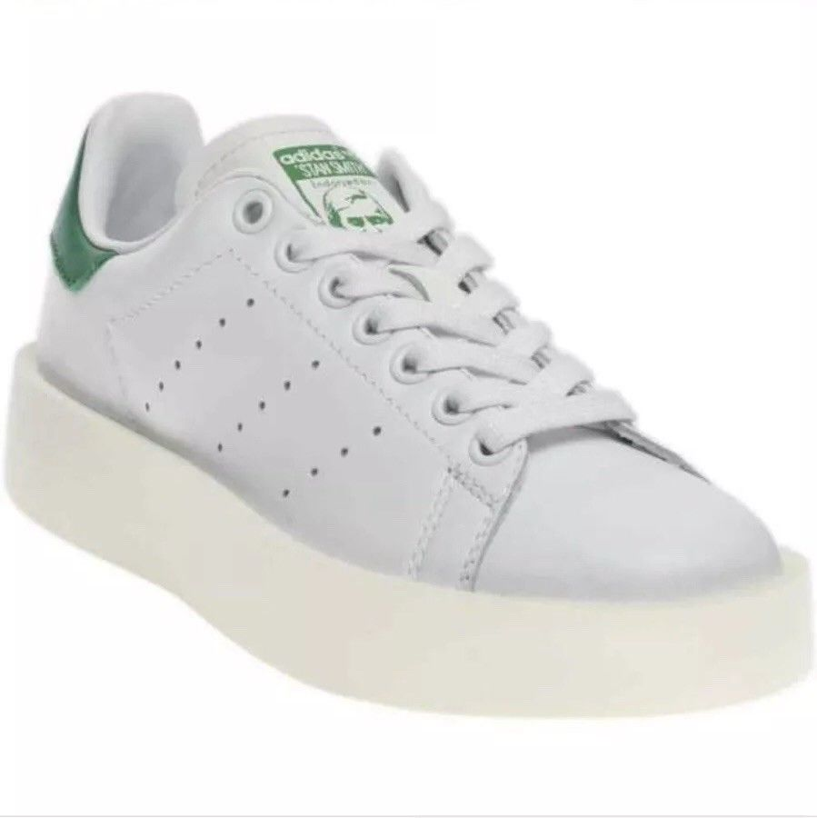 27a00d73d0a Adidas Women Stan Smith Platform Sneakers White Green Classic Original Sz  6.5 J