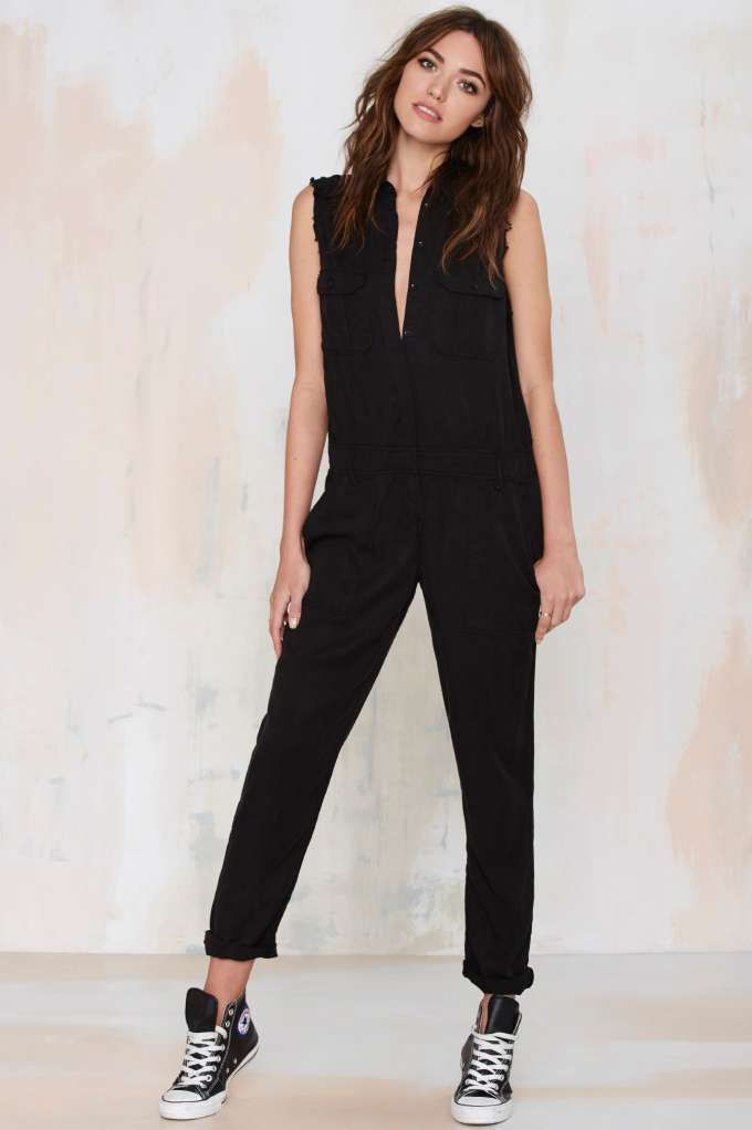 bf30894da9aa Etienne Marcel Cut Loose Sleeveless Utility Jumpsuit - Rompers + Jumpsuits