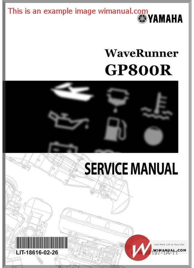 Yamaha Service Manual Gp800r Yamaha Yamaha Waverunner Manual