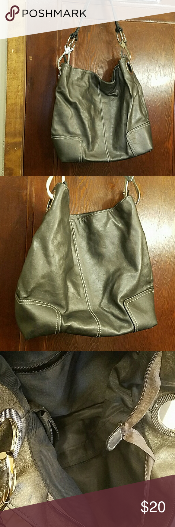Cute Pewter Colored Hobo Handbag Euc Except For A Tears Notice In Picture Bags Hobos