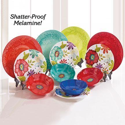 Melamine Dinnerware Set available at Fresh Finds. Designer\u2013style melamine boasts the look and feel of ceramic\u2014with none of the upkeep! & Product: [F5393] Melamine Dinnerware Set | Things I like | Pinterest ...