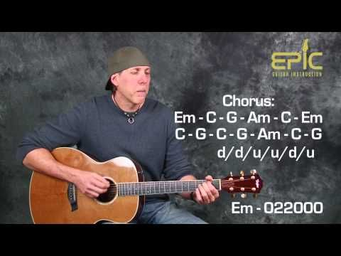 Learn EZ beginner song Eagles Take It Easy guitar lesson with chords ...