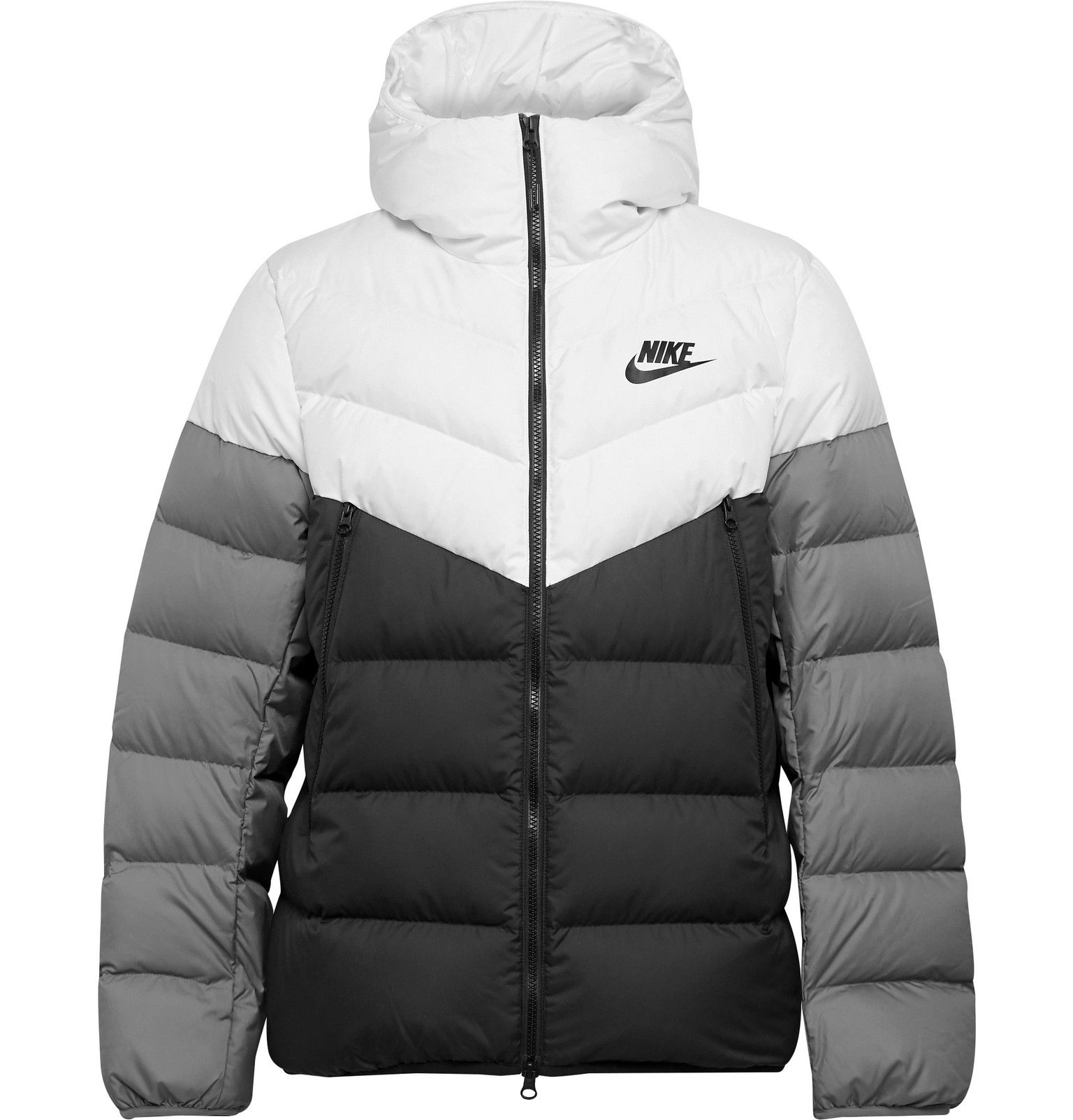 Nike Sportswear Windrunner Colour Block Quilted Shell Hooded Down Jacket Men White Jackets Men Fashion Nike Clothes Mens Mens Designer Coats [ 1604 x 1536 Pixel ]