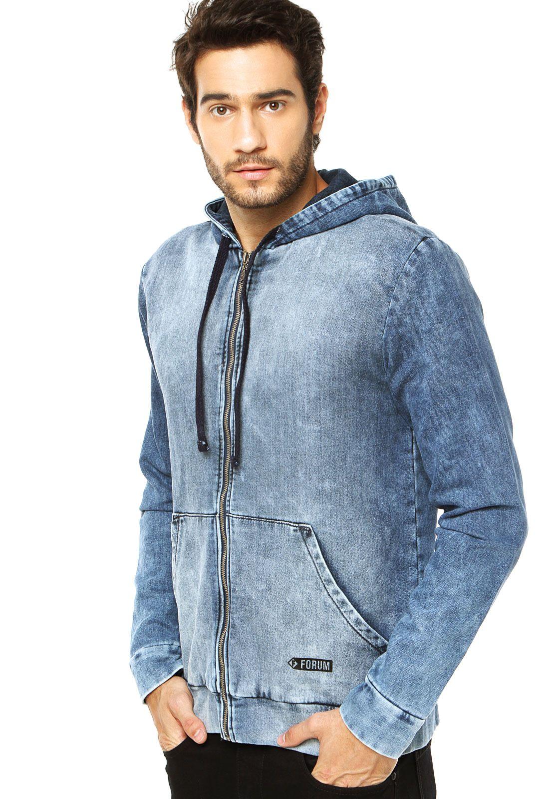 Jaqueta Jeans Forum Azul - Compre Agora  6172bf06459