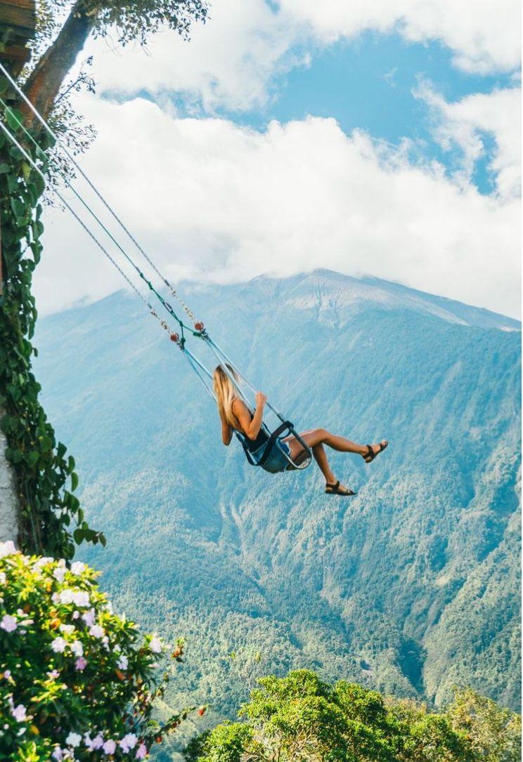 Zip Lining In Banos Ecuador