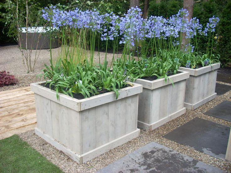 Zelf bloembakken maken van hout gardening and outdoor - Openlucht tuin idee ...