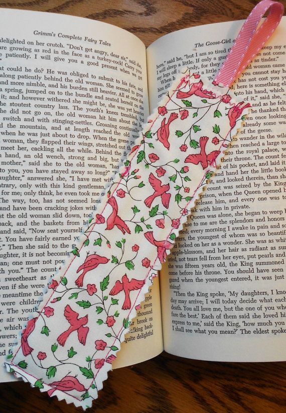 Timeless Spring Fabric Bookmark by PuddleDuckCottage on Etsy,