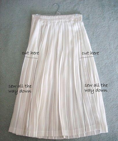 Reciclar falda larga en vestido
