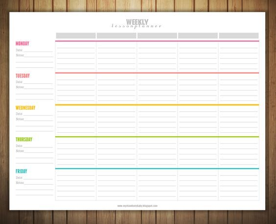 Free Printable Weekly Lesson Plan Template Classroom Ideas - Lesson plan templates free
