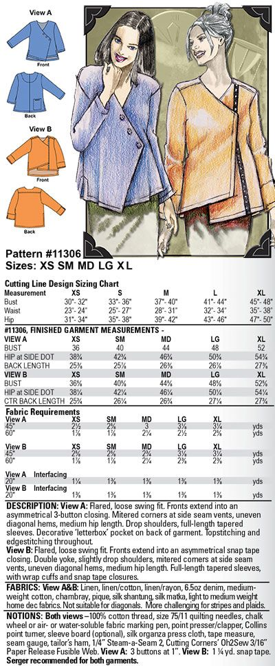 Louise Cutting\'s Snap To It (11306) Pattern | Apparel: Coats ...