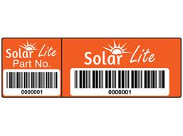 Scanmark Dual Barcode Label Full Design 20mm X 60mm Barcode Labels Label Design Design