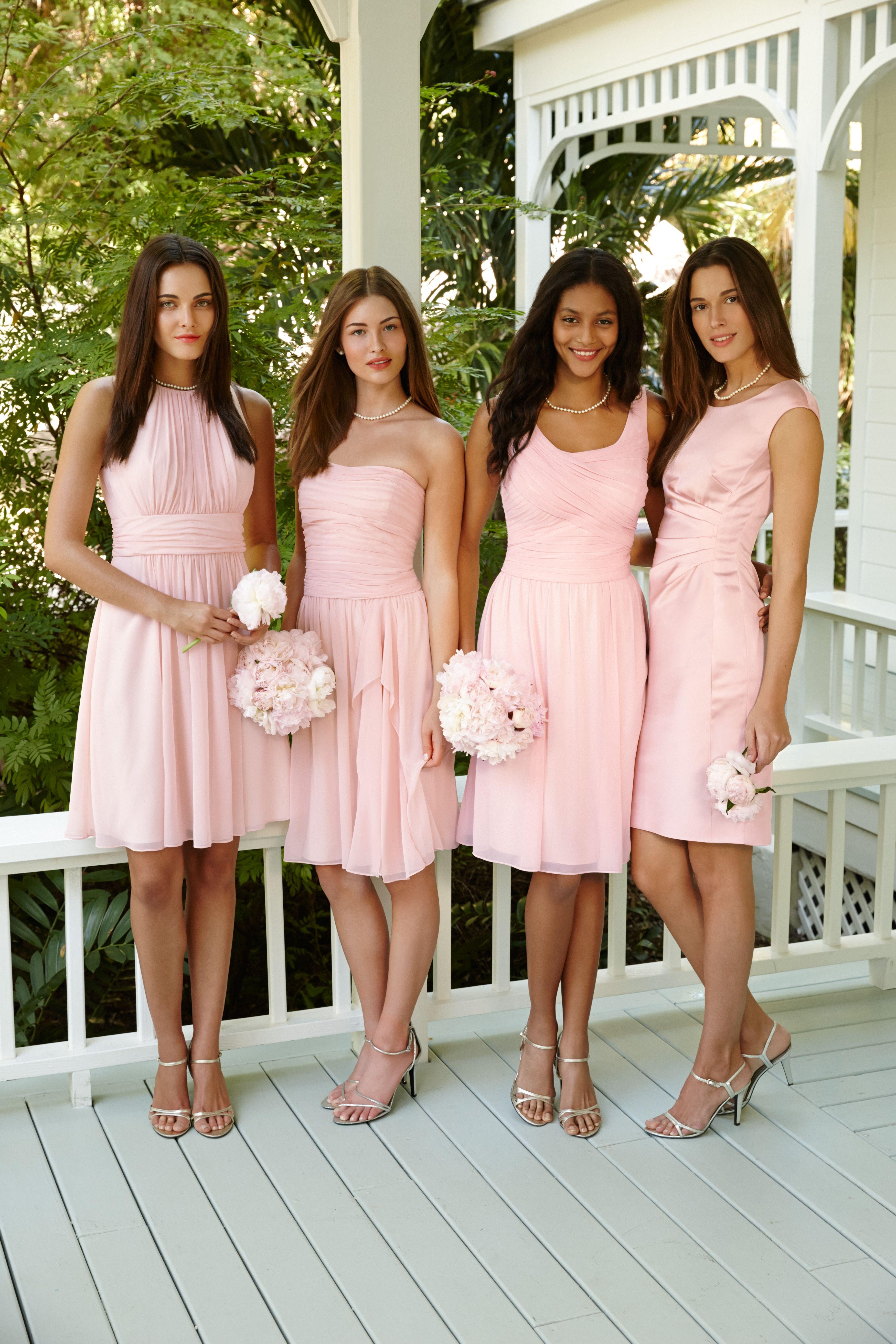 Lauren Ralph Lauren\'s perfect blush bridesmaids dresses: as unique ...